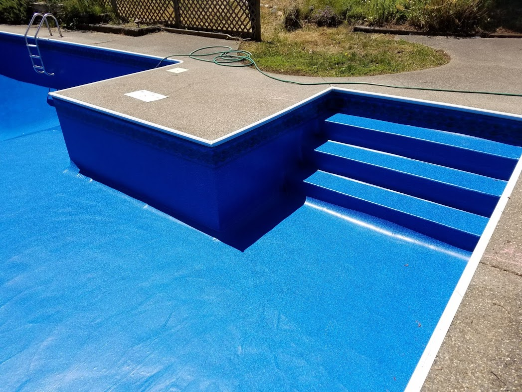 Custom Swimming Pool Vinyl Liner Replacement by A Plus Pools