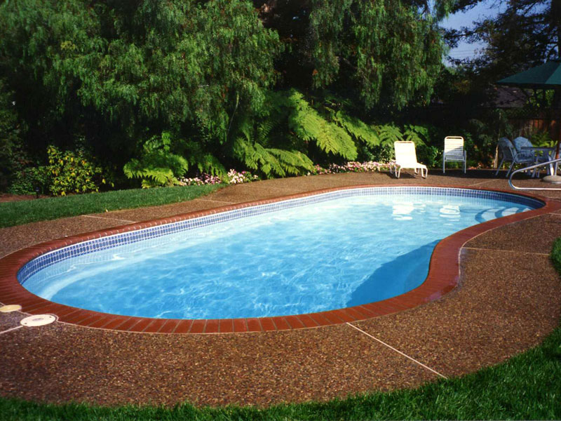 A plus pools kidney shaped pools from oregon 39 s premier for Small swimming pool sizes and shapes