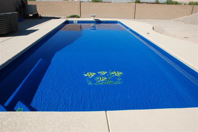A plus pools custom pool tile from oregon 39 s premier viking pools dealer for southern oregon - Mosaic pool tiles ...