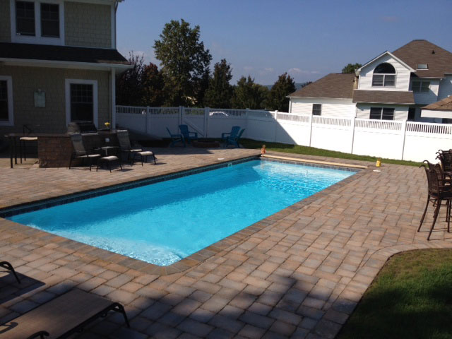A plus pools rectangle shaped pools from oregon 39 s for Inground pool dealers